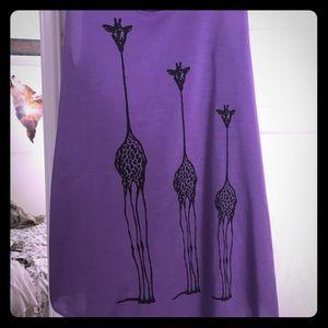 Purple Giraffe Shirt